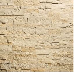 Декоративный гипсовый камень Сланец Карпатский бежевый