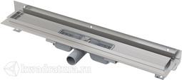 Водоотводящий желоб для перфорированной решетки с регулируемым краем к стене Alcaplast APZ104 Flexible Low