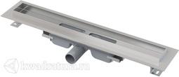 Водоотводящий желоб с порогами для цельной решетки Alcaplast APZ106 Professional Low