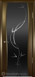 Межкомнатная дверь Кипарис 2 ДО Венге стекло тон Лиана