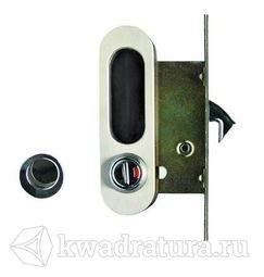 Ручка с механизмом Archi для раздвижной двери белый никель