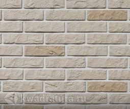 Декоративный гипсовый камень Дикий кирпич бежевый