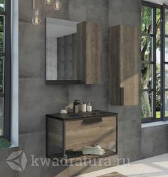 Комплект мебели для ванной Comforty Бонн 75 дуб темный