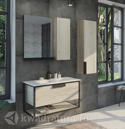 Комплект мебели для ванной Comforty Бонн 90 дуб дымчатый