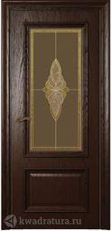 Межкомнатная дверь Магнолия 2 ДО Дуб Бренди