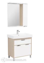 Комплект мебели для ванной Aquanet Гретта 80 светлый дуб
