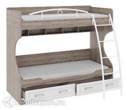 Прованс Кровать двухъярусная с металлической лестницей