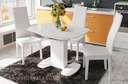 Стол обеденный Портофино 01 Белый/Стекло глянцевое белое 1100 мм